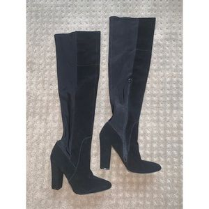 Cynthia Rowley Over-the-knee boots, worn once!